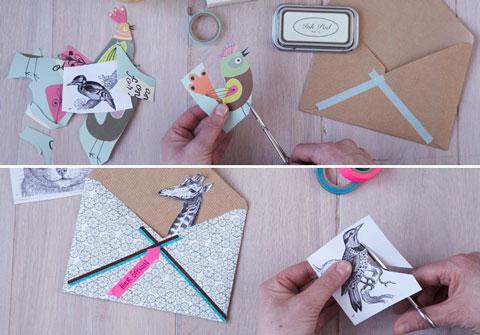 Как украсит конверт